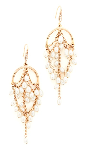 Theia Jewelry Grecian Chandelier Earrings with Pearls | SHOPBOP