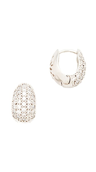 Theia Jewelry Petite Huggie Earrings - White Gold