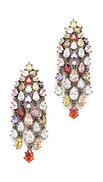 Theia Jewelry Cascading Chandelier Earrings - Multi