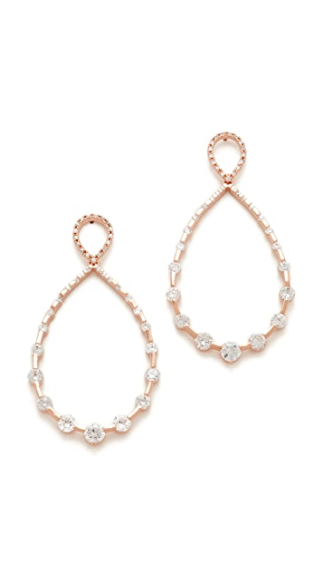 Theia Jewelry Studded Open Tear Drop Earrings