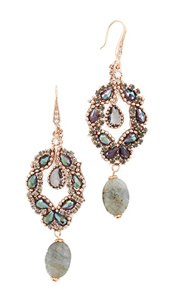 Theia Jewelry Athena Chandelier Earrings - Antique Gold