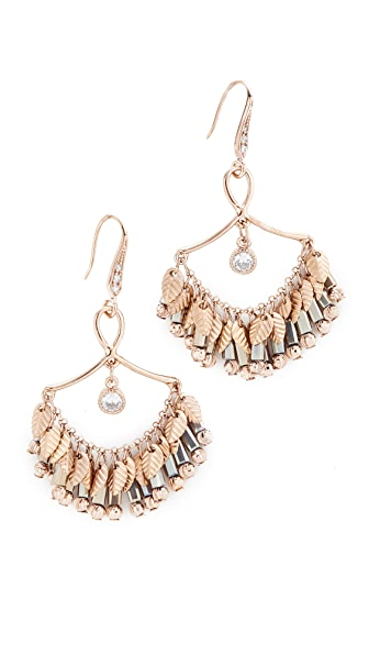 Theia Jewelry Infinity Laurel Leaf Chandelier Earrings - Antique Gold