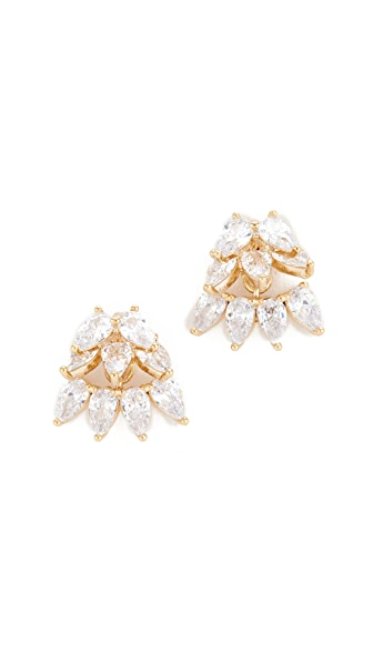 Theia Jewelry Cluster of Teardrops Earrings In Gold
