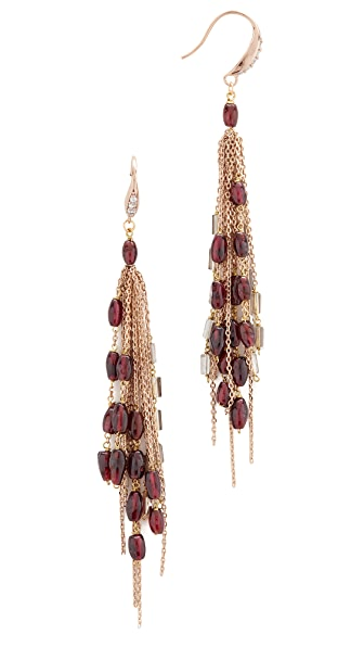 Theia Jewelry Aura Drop Earrings - Antique Gold