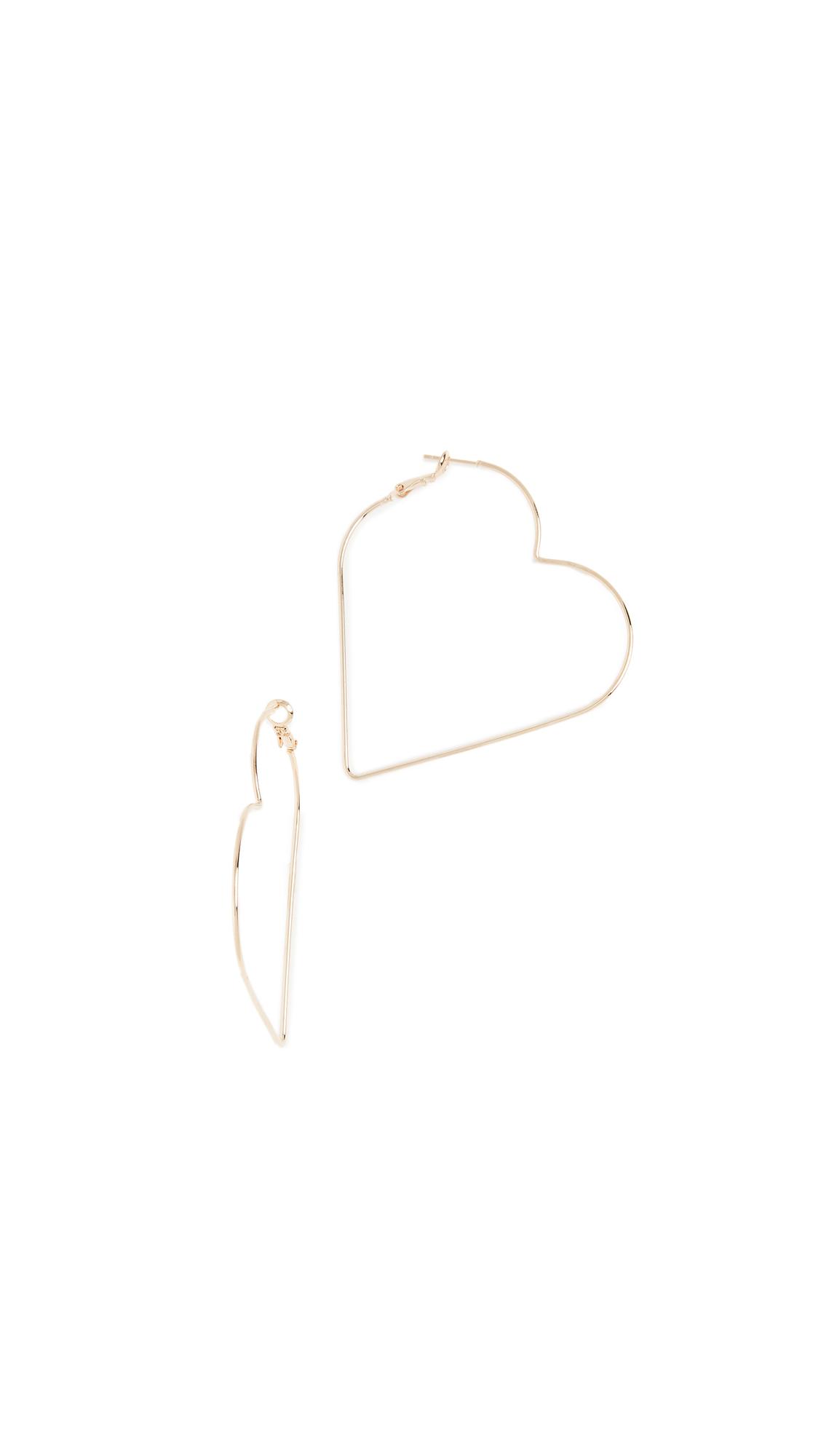 Theia Jewelry Polished Heart Hoop Earring