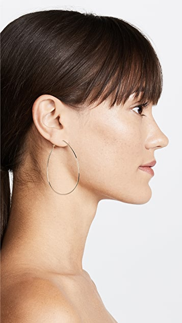 Theia Jewelry Teardrop Round Hoop Earrings