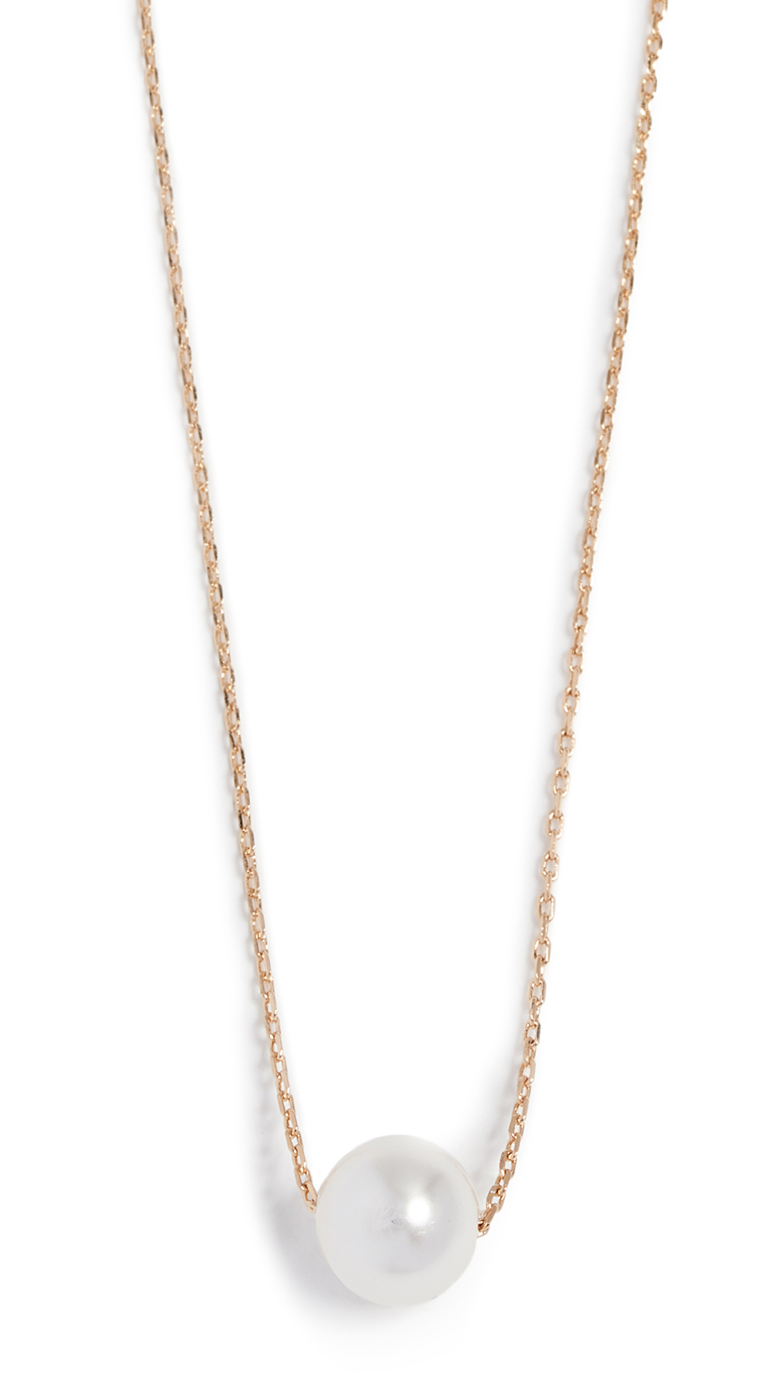 Theia Jewelry Petite Swarovski Imitation Pearl Necklace - Yellow Gold