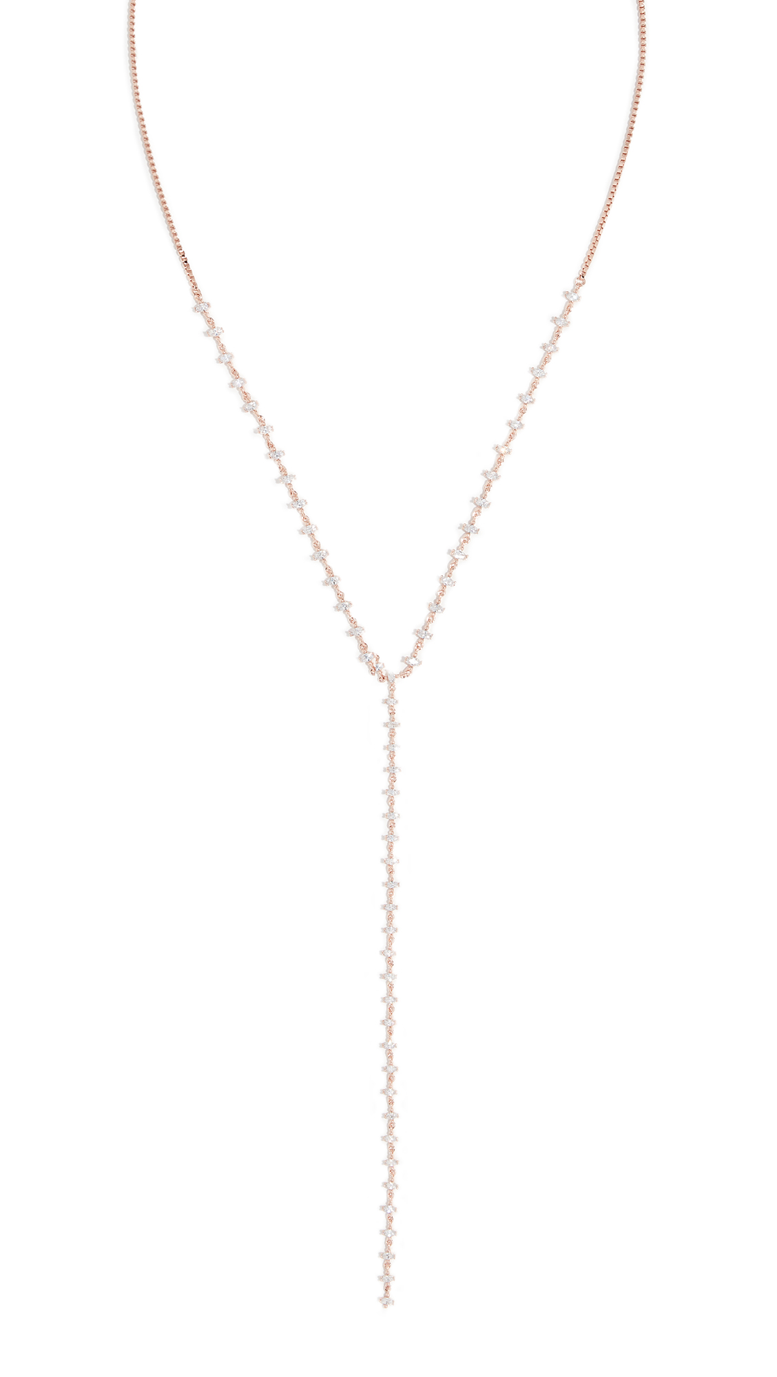 THEIA JEWELRY Harper Lariat Necklace in Rose Gold