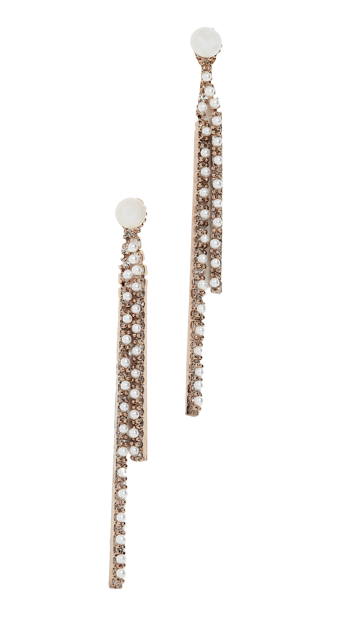 THEIA JEWELRY Freshwater Cultured Pearl Earrings in Pearl/Cz
