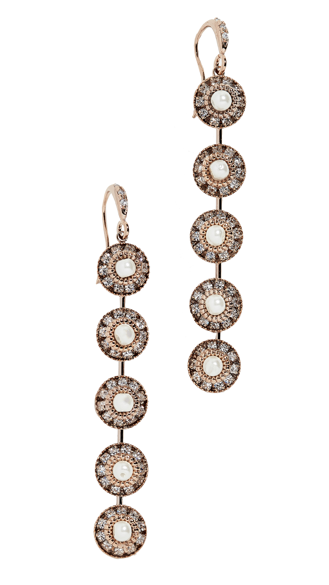 THEIA JEWELRY Catherine Earrings in Gold/Pearl