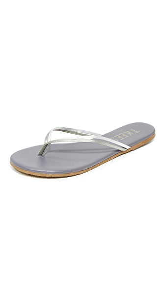 TKEES Duos Flip Flops - Silver Showers