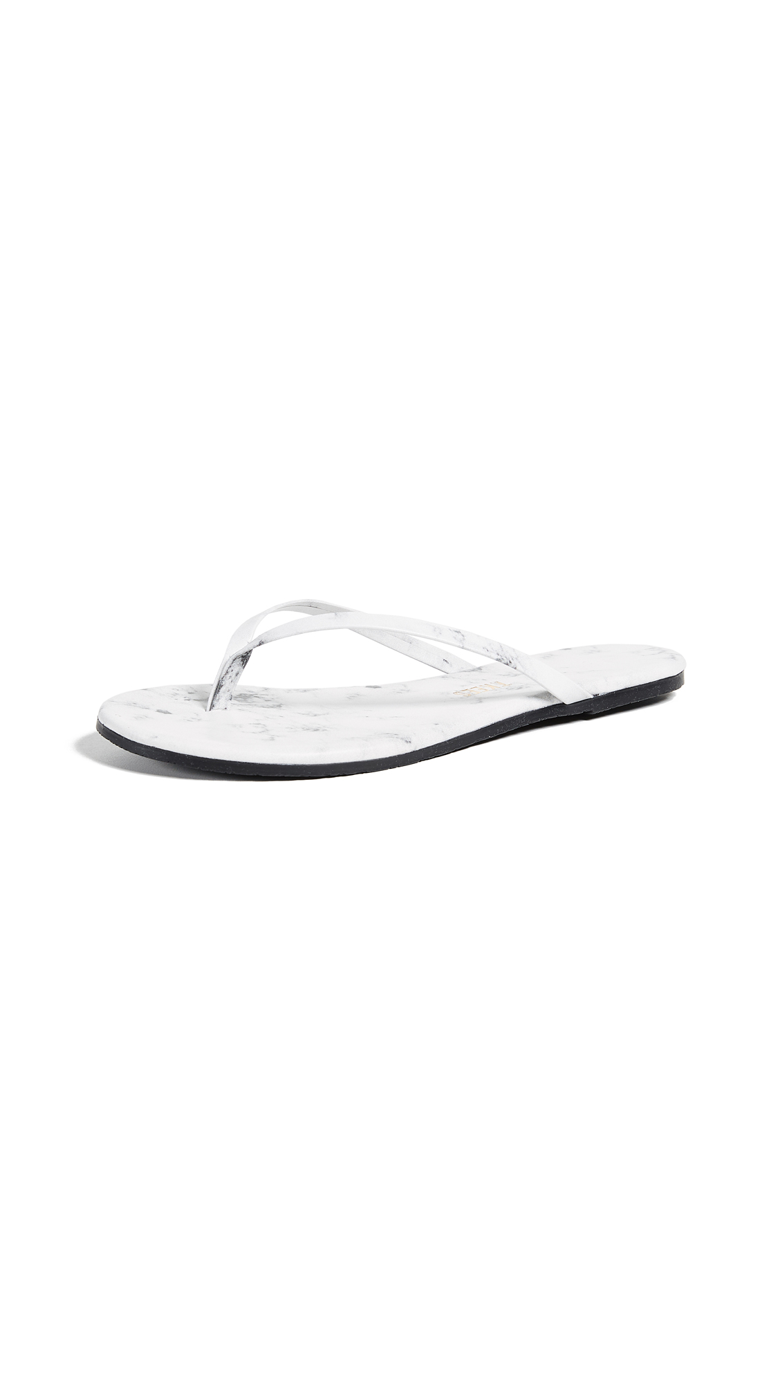 TKEES Marble Flip Flops - White Pepper