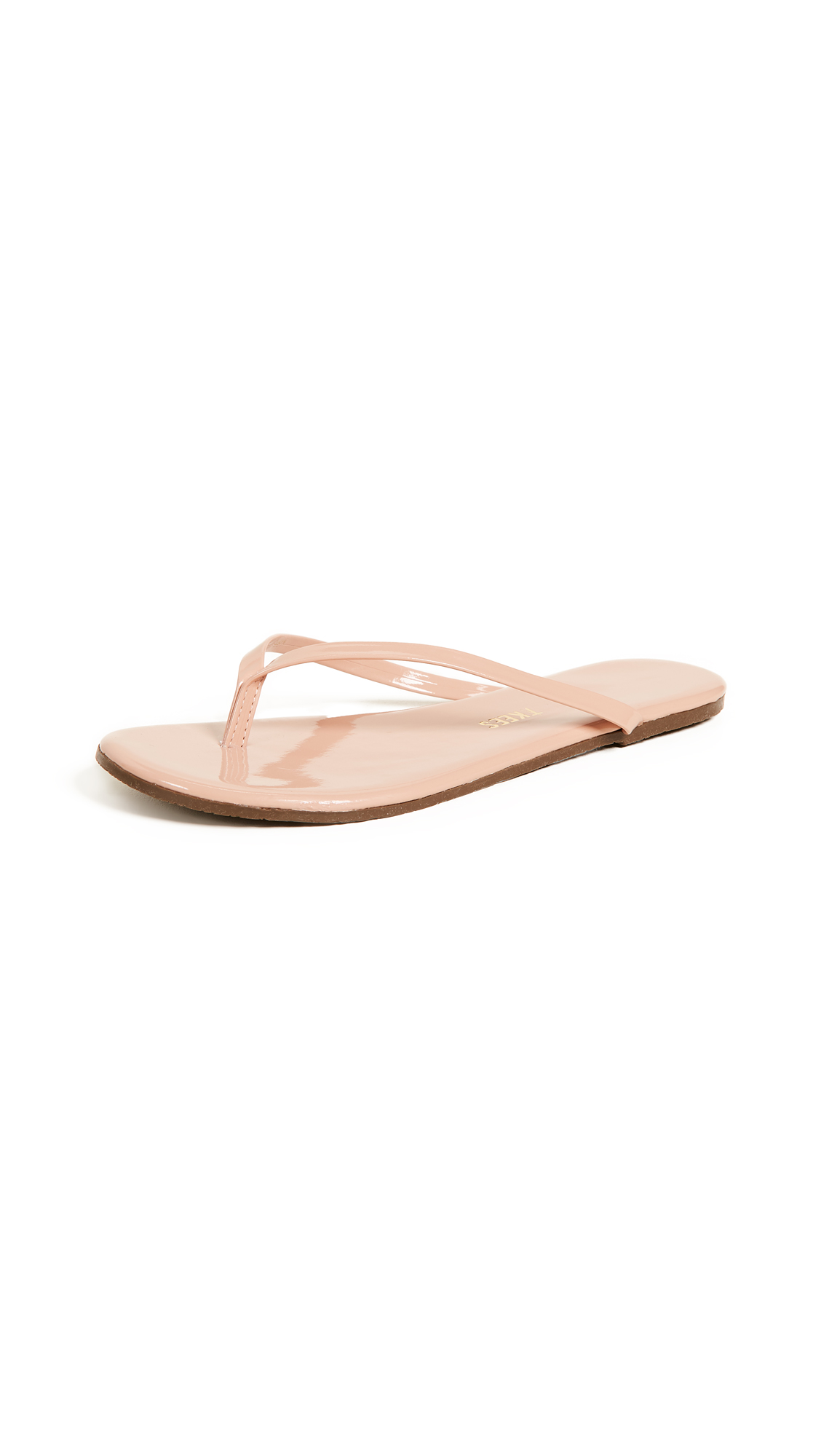 TKEES Foundations Gloss Flip Flops - Nude Beach