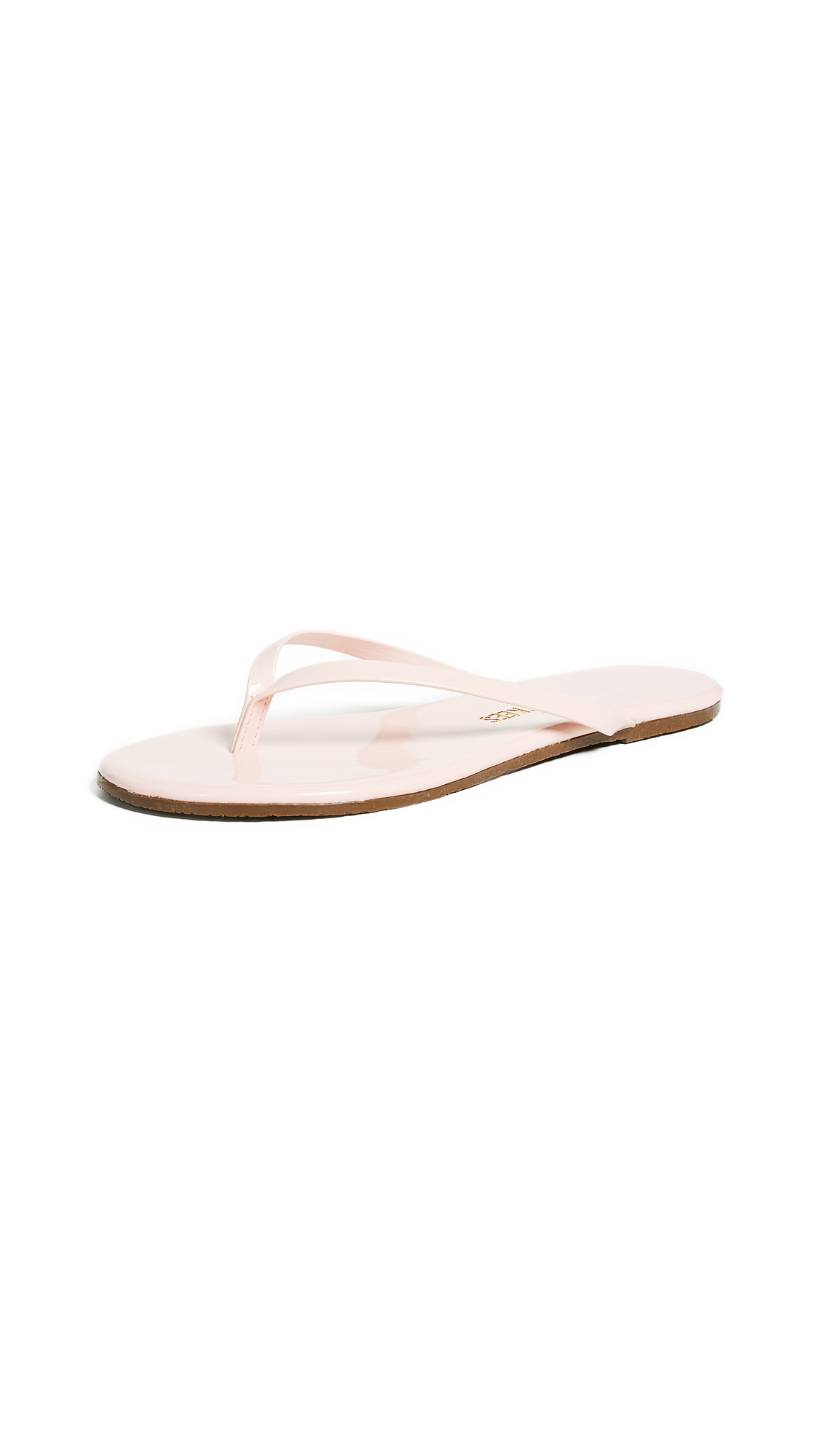 TKEES Glossy Flip Flops - Whip Cream