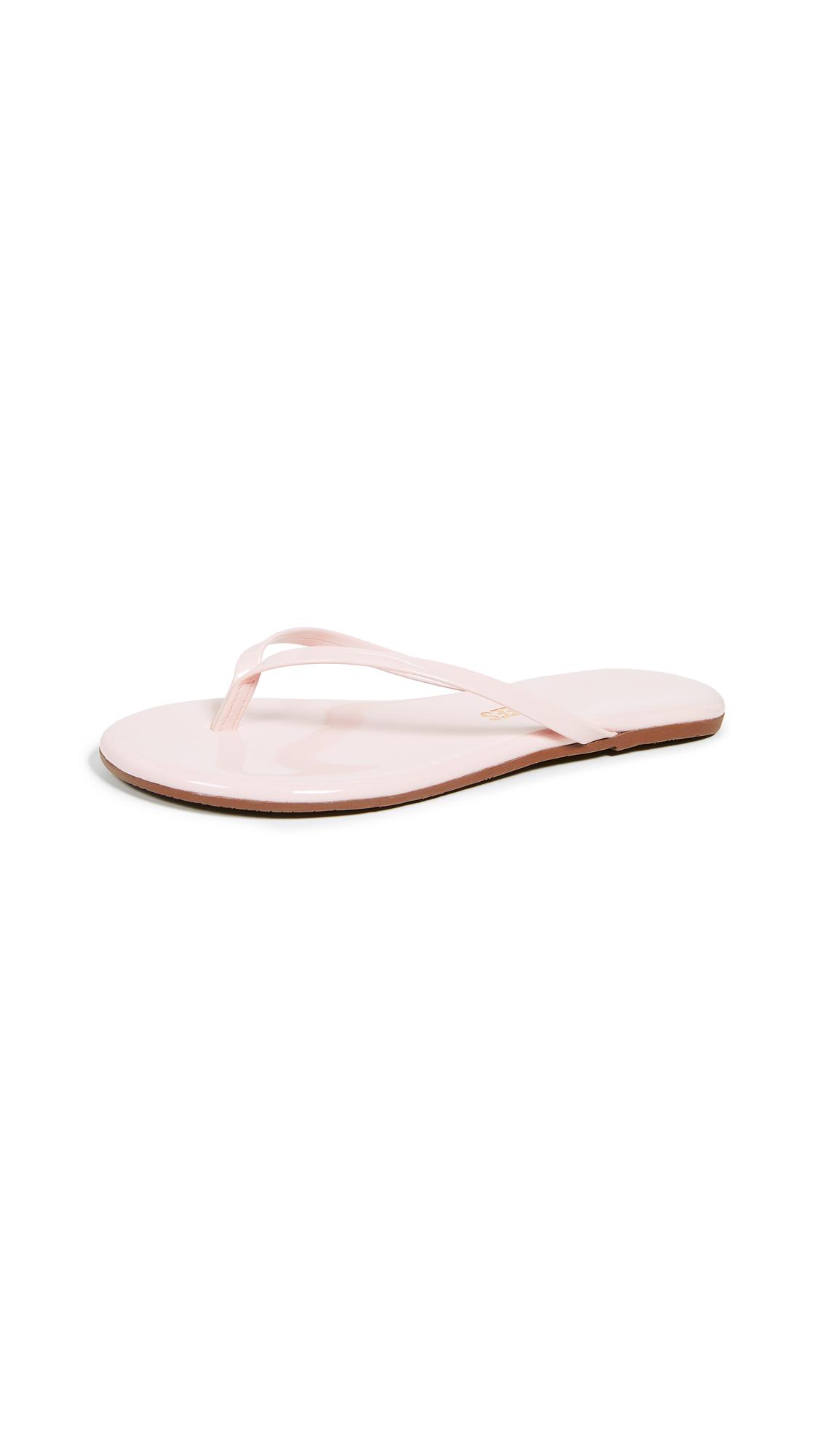 TKEES Gloss Flip Flops - Whip Cream