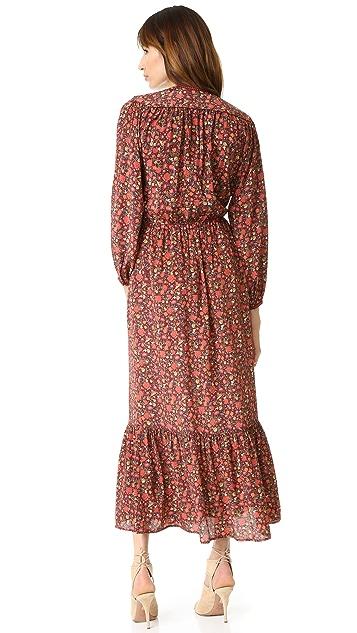 The Kooples Hippy Flower Print Silk Dress
