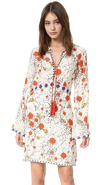 The Kooples Hippy Flower Print Silk Mini Dress