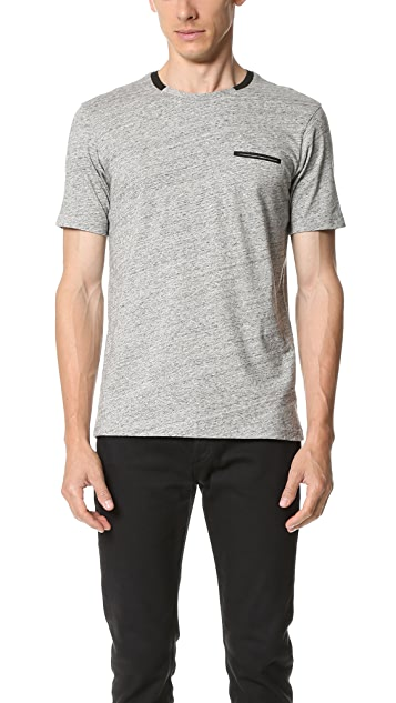 The Kooples Sport Embroidered Pocket Tee