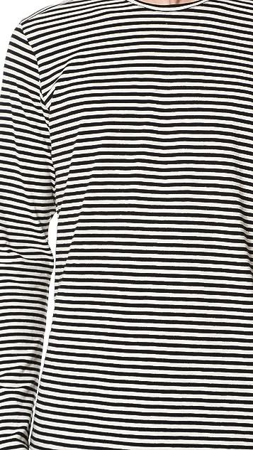The Kooples Sport Striped Long Sleeve Tee