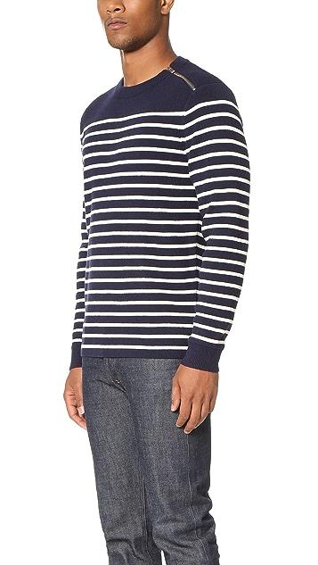 The Kooples Sport Shoulder Zip Sweater