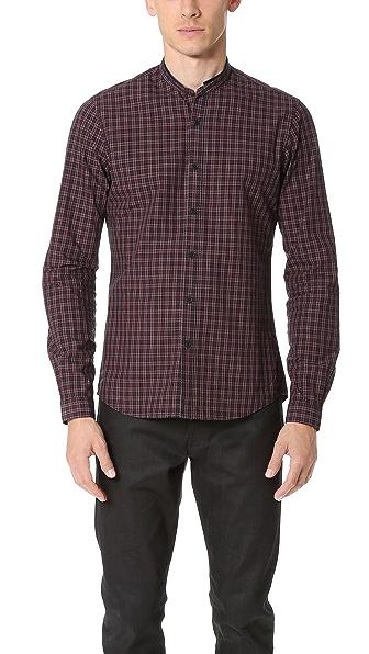 The Kooples Sport Officer Collar Check Shirt