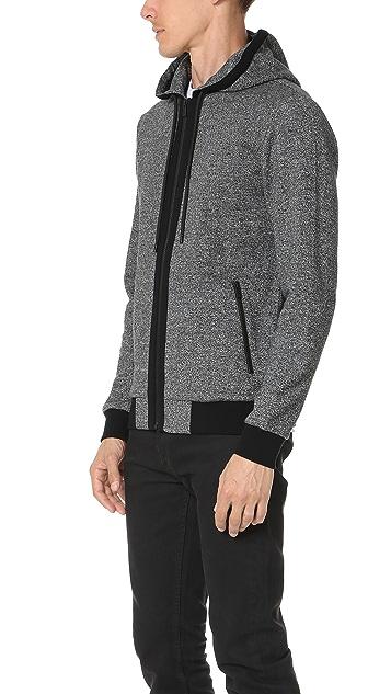 The Kooples Sport Fleece Zip Hoodie
