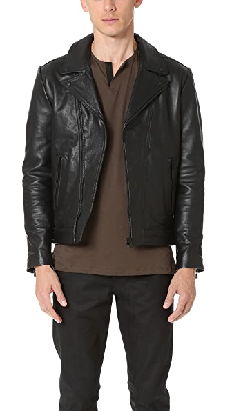 The Kooples Leather Moto Jacket