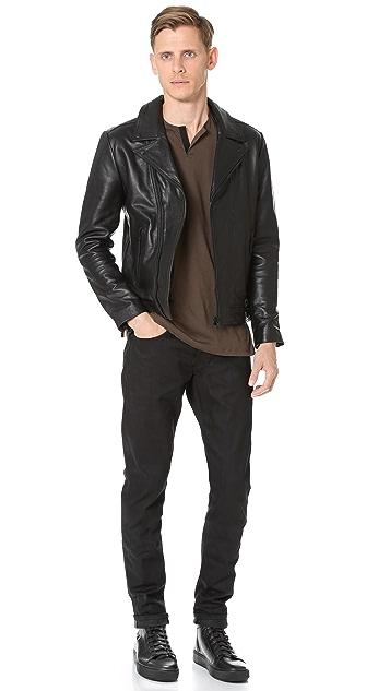 The Kooples Leather Moto Jacket