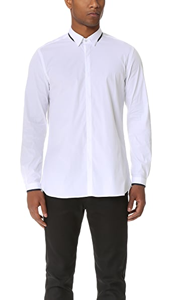 The Kooples Hidden Placket Poplin Shirt
