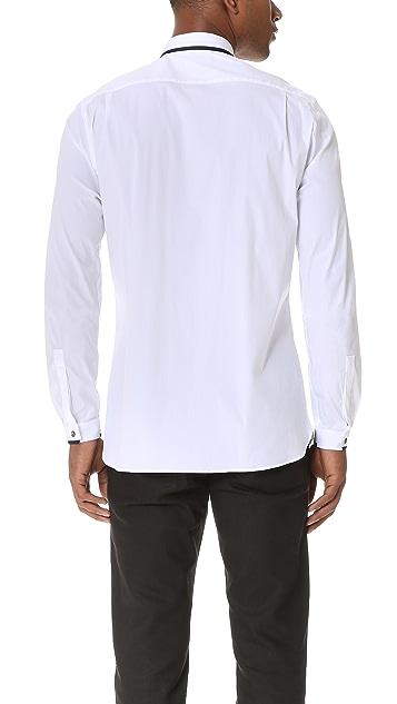 The Kooples Hidden Placket Poplin Shirt