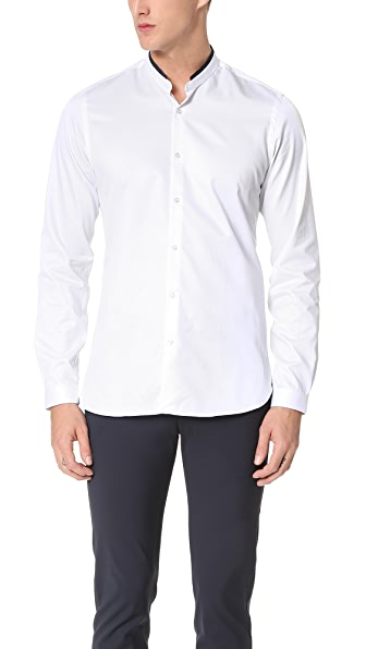 The Kooples Grosgrain Officer Collar Shirt