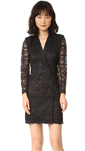 The Kooples Lace Wrap Jacket Dress - Black