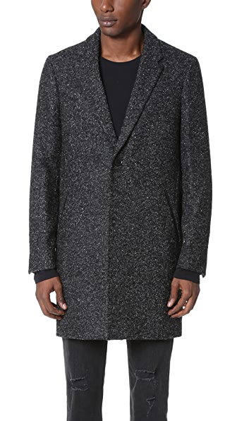 The Kooples Tweed Overcoat