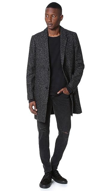 The Kooples Tweed Overcoat