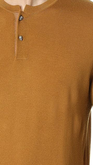 The Kooples Merino Long Sleeve Henley