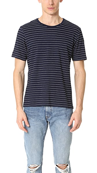 The Kooples Indigo Striped Short Sleeve Tee