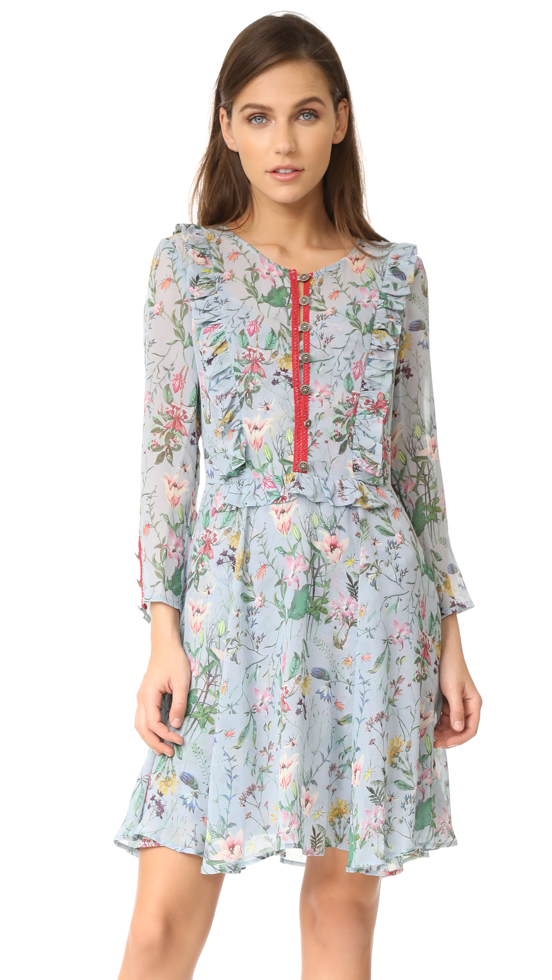 The kooples floral ruffle dress at shopbop