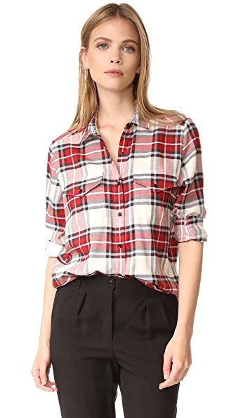 The Kooples Plaid Blouse - Red