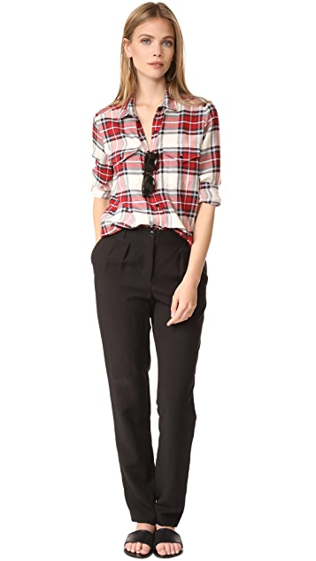 The Kooples Plaid Blouse