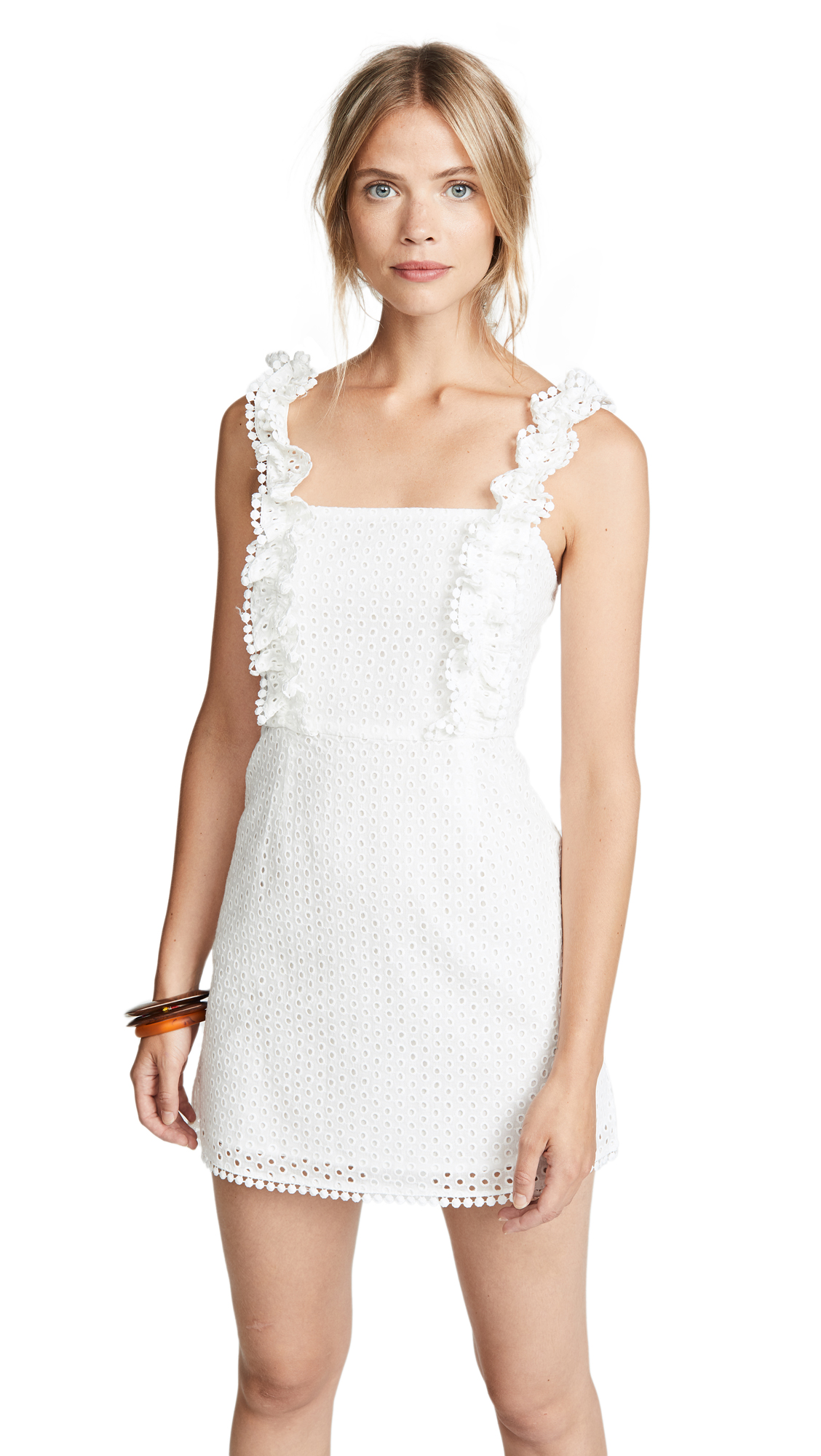 THE LINE UP Eyelet Dress in White