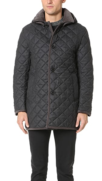 Traditional Weatherwear by Mackintosh Derby Hooded Quilted Flannel Jacket