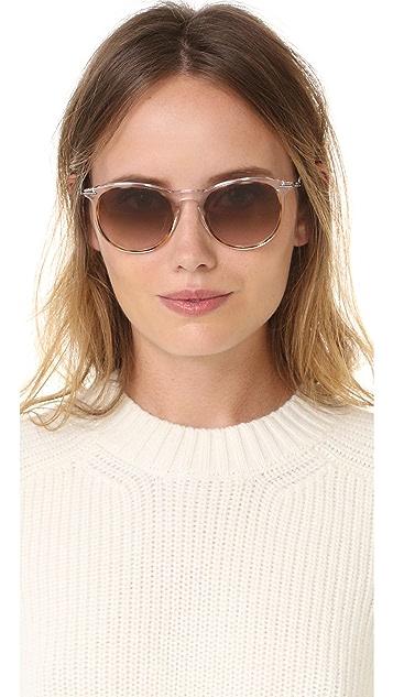 Tomas Maier Translucent Round Sunglasses