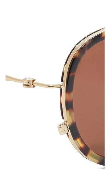 Tomas Maier Eye Rim Aviator Sunglasses