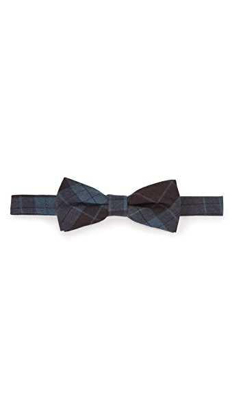 Thomas Mason Plaid Bow Tie