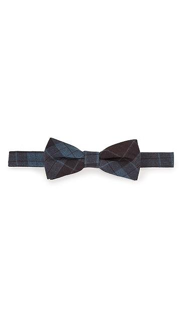 Thomas Mason Plaid Bow Tie