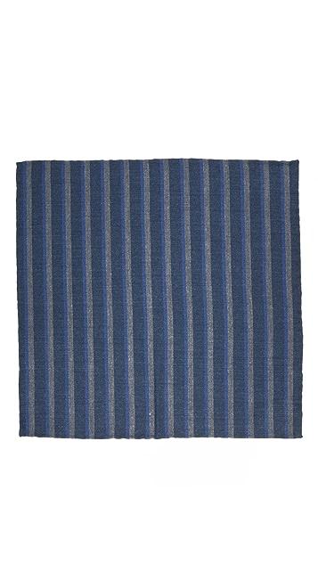 Thomas Mason Stripe Pocket Square