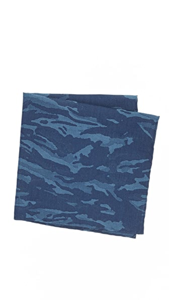 Thomas Mason Camo Pocket Square