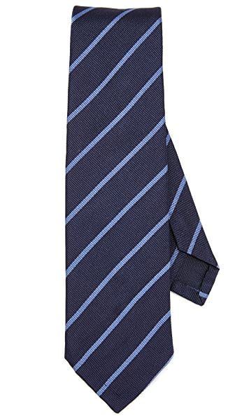 Thomas Mason Stripe Silk Tie