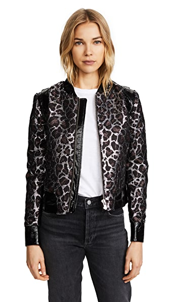 The Mighty Company The Vouvant Jacket In Leopard