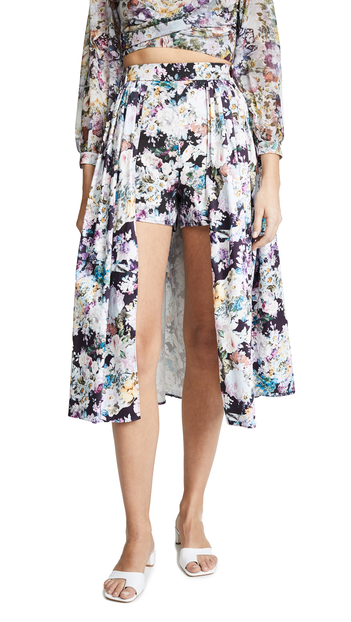 Skirted Shorts, Pink/Purple Floral
